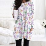 Butterflies - Insect Pocket Long Top Women Blouse KH260220