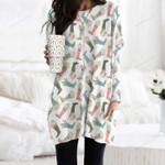Rain Boot Pocket Long Top Women Blouse KH260224