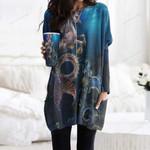 Seahorse Pocket Long Top Women Blouse CH230202