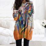 Elephant Pocket Long Top Women Blouse CH230205