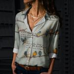 Bird Trust Cotton And Linen Casual Shirt QA01032104