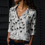 British Sheep Breeds Cotton And Linen Casual Shirt QA01032106