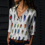 Feathers Cotton And Linen Casual Shirt QA01032109