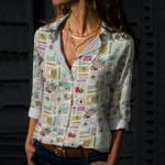 Superfood - Gardening Cotton And Linen Casual Shirt KH01032105
