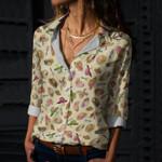 Gardening Hat Cotton And Linen Casual Shirt KH01032106