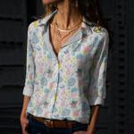 Rain Boots - Gardening Cotton And Linen Casual Shirt KH01032109