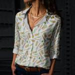 Garden Tools Cotton And Linen Casual Shirt KH01032113