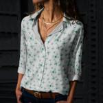 Butterflies Cotton And Linen Casual Shirt KH01032115