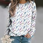 Watercolor Feathers Unisex All Over Print Cotton Sweatshirt KH01032116