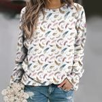 Watercolor Feathers Unisex All Over Print Cotton Sweatshirt KH01032117