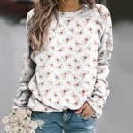 Watercolor Butterflies Unisex All Over Print Cotton Sweatshirt KH01032118