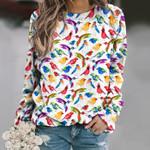 Bird -Birdwatching Unisex All Over Print Cotton Sweatshirt KH01032120