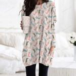 Rain Boots Pocket Long Top Women Blouse KH01032107