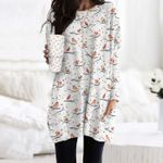 Bird - Birdwatching Pocket Long Top Women Blouse KH01032119