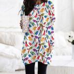 Bird - Birdwatching Pocket Long Top Women Blouse KH01032120