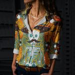 Day Of The Dead Cotton And Linen Casual Shirt QA02032105