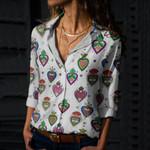 Sacred Heart Cotton And Linen Casual Shirt QA02032108