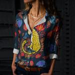 Jaguar Mexican Art Cotton And Linen Casual Shirt QA03032107