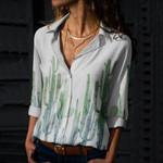 Cacti Cotton And Linen Casual Shirt QA05032102
