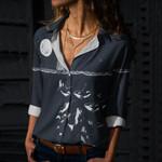Night Killer Whale Cotton And Linen Casual Shirt QA08032105