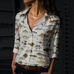 South Pacific Fishes Cotton And Linen Casual Shirt QA09032103