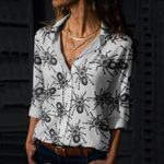 Spiders Cotton And Linen Casual Shirt QA09032109