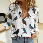 Birds - Birdwatching Cotton And Linen Casual Shirt KH10032102