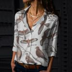 Eagled - Eyed Observations Cotton And Linen Casual Shirt KH10032103
