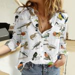 A to Z of Obscure Birds Cotton And Linen Casual Shirt KH10032104