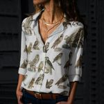 Owls Cotton And Linen Casual Shirt QA10032101