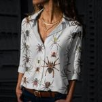 Spiders Of The World Cotton And Linen Casual Shirt QA10032102
