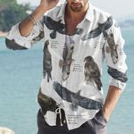 British Birds Of Prey Cotton And Linen Casual Shirt KH10032111