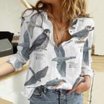Merlin Falco Columbarius - Birdwatching Cotton And Linen Casual Shirt KH10032112