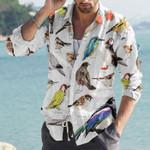 Birds Cotton And Linen Casual Shirt KH10032115