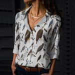Raptors Of Eastern North America Cotton And Linen Casual Shirt KH10032116