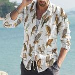 Bird Of Prey Cotton And Linen Casual Shirt KH10032117