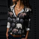 Bears Of The World Cotton And Linen Casual Shirt QA11032108