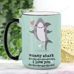 Mother's Day Gift - Mummy Shark Ceramic Mug QA11032110
