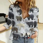Bears Of The World Cotton And Linen Casual Shirt QA12032108