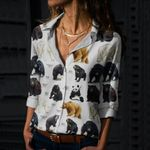 Bears Of The World Cotton And Linen Casual Shirt QA12032109