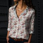 Floral Flamingos Cotton And Linen Casual Shirt KH12032129