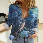 Mermaid - Beach Lovers Cotton And Linen Casual Shirt QA15032105