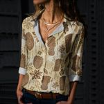 Tiki Cotton And Linen Casual Shirt CH15032110