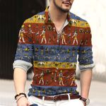 Egypt Cotton And Linen Casual Shirt CH15032116