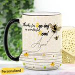 Mother's Day Gift - Bee Mom Personalized Ceramic Mug QABM16032102