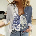 Octopus Cotton And Linen Casual Shirt QA16032115