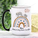 Mother's Day Gift - Elephant Mum Ceramic Mug QA17032103