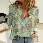 Bohemian Camel Cotton And Linen Casual Shirt QA18032111
