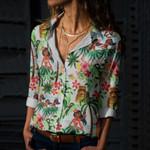 Hawaii Tahiti Tiki Beach Cotton And Linen Casual Shirt QA23032104