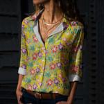 Hawaiian Chameleon Cotton And Linen Casual Shirt QA23032112